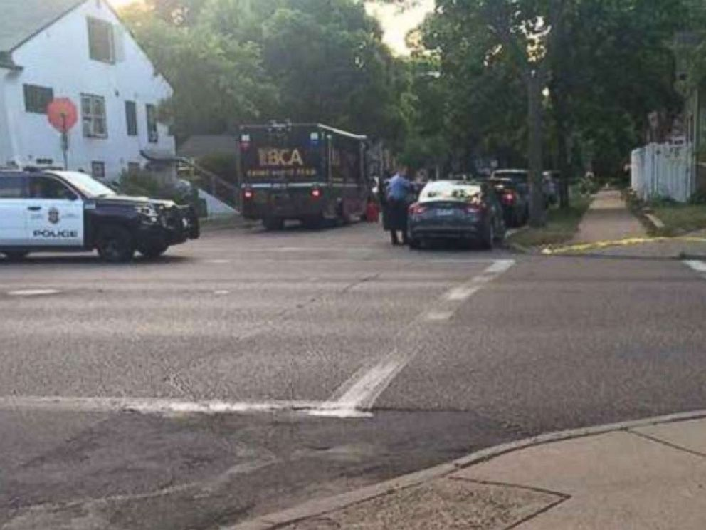 PHOTO: Authorities respond to the scene where a woman was shot and killed by a Minneapolis police officer.