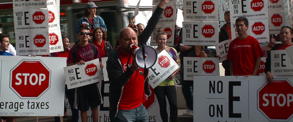 "PHOTO: The Coalition for an Affordable City, also called ""No on E,"" is a group dedicated to striking down Proposition E, often referred to as the soda tax, which San Francisco voters will vote on Tuesday."