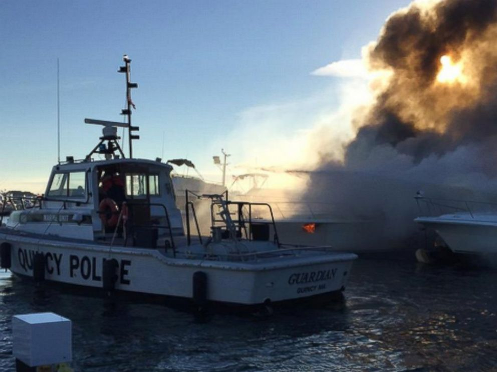 PHOTO: Quincy Police posted this photo to Twitter on Oct. 8, 2015 with the caption, Marine Unit on scene assisting QFD.