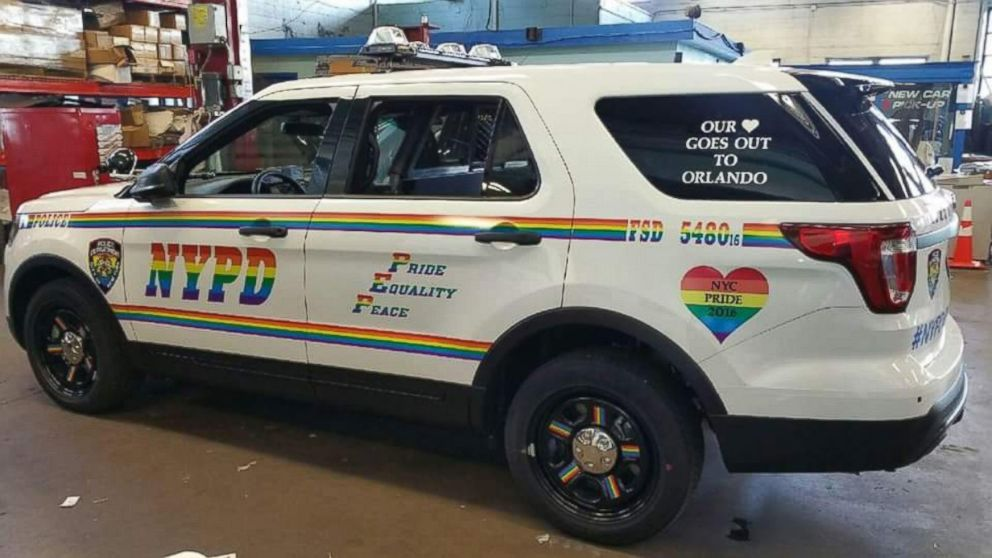 Nypd Unveils Rainbow Themed Vehicle Before City S Gay
