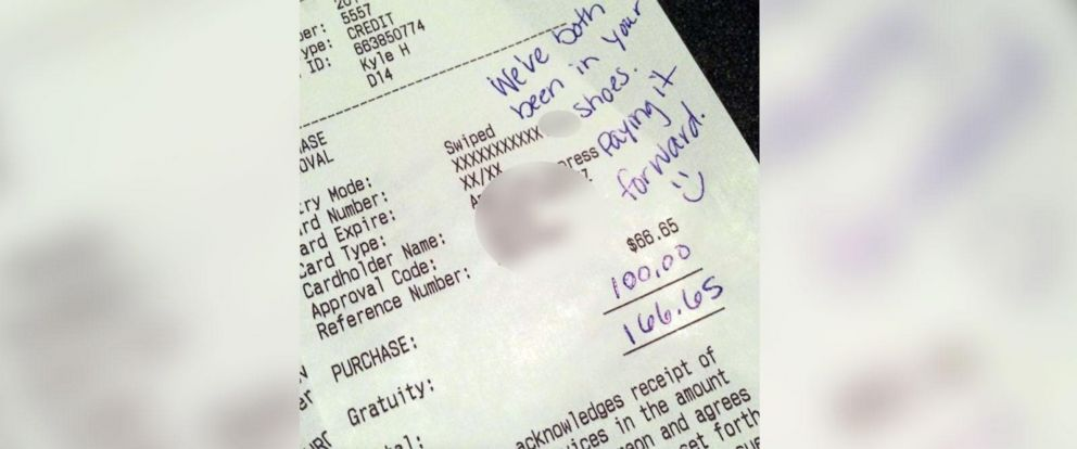 PHOTO: An Iowa couples generous tip has gone viral because of the reason behind it.