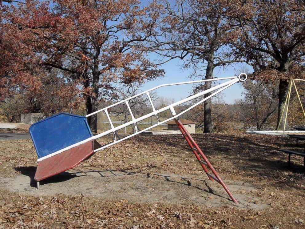 PHOTO: Rocket playground in Levy Lowry Memorial Park, Princeton, Missouri.