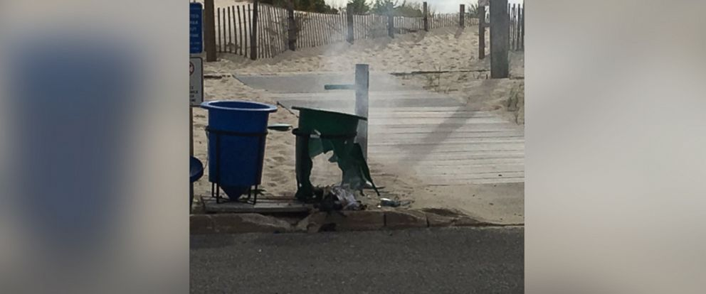 """PHOTO: Kathy Madsen posted this photo to Twitter on Sept. 17, 2016 with the caption, """"Very loud explosion at Semper 5K in Seaside Park at E Street."""""""