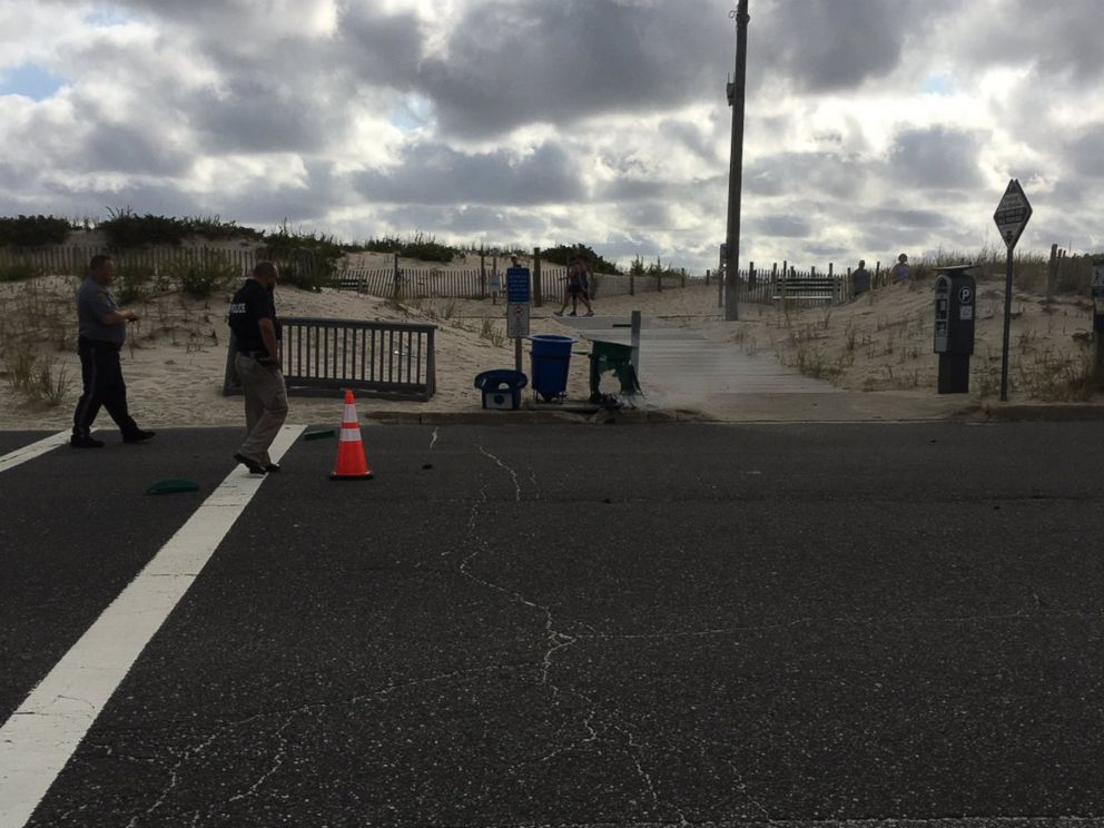 PHOTO: Kathy Madsen posted this photo to Twitter on Sept. 17, 2016 with the caption, Seaside Park Police at the scene.