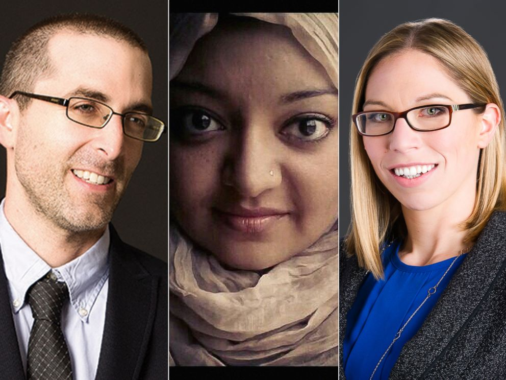 PHOTO: Colin Miller, Rabia Chaudry and Susan Simpson of the Undisclosed podcast helped Adnan Syed of Serial fame get a new trial.