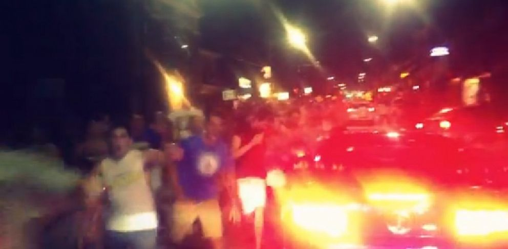PHOTO: Image from video footage of the Im Shmacked event-turned-riot at University of Delaware, Sept. 9, 2013.