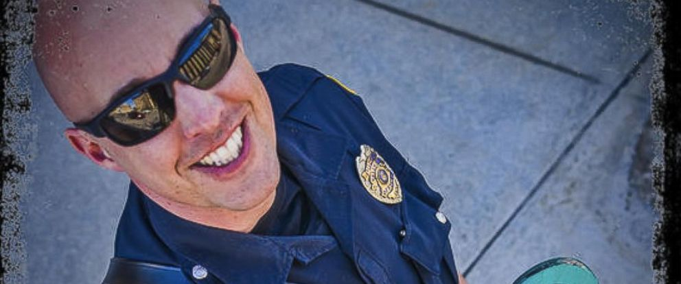 PHOTO: Patrol Officer Joel Zwicky of the Green Bay Police Department turns heads when he does patrols on his longboard.