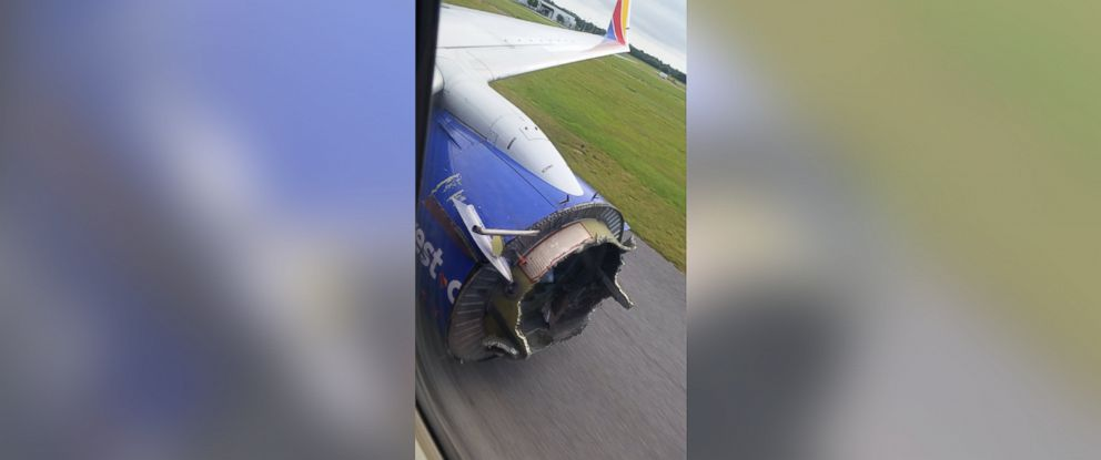 """PHOTO: Stephanie posted this photo to Twitter on Aug. 27, 2016: """"@10TV southwest plane from New Orleans to Orlandos engine blew in the sky. This was my dads bosss picture he got."""""""