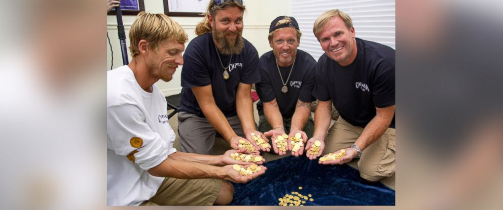 PHOTO: The gold was found by Queens Jewels, LLC, a historic shipwreck salvage operation.