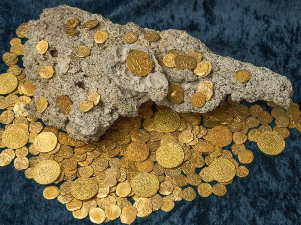 PHOTO: 4.5 Million Dollars worth of Spanish gold coins has been recovered.
