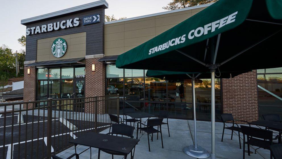 The exterior of the Ferguson Starbucks location is seen here, April 28, 2016, in Ferguson, Missouri.