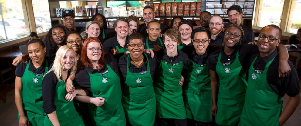 PHOTO: Starbucks employees are seen here in this undated file photo.