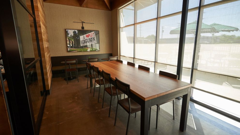 The interior of the Ferguson Starbucks location is seen here, April 28, 2016, in Ferguson, Missouri.