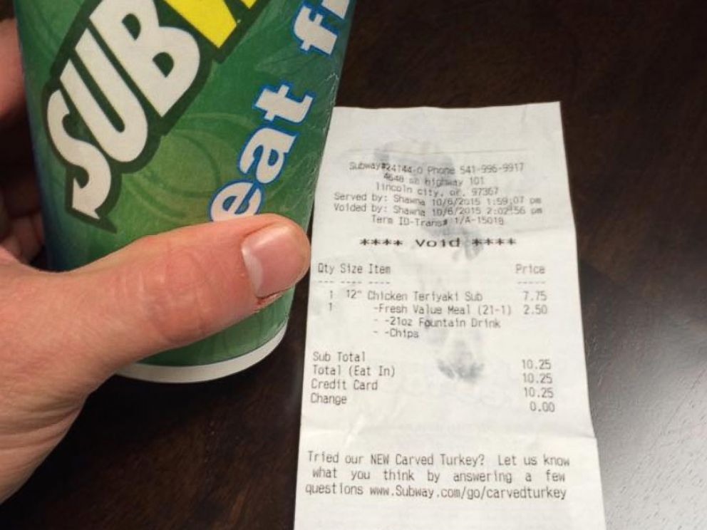 PHOTO: Matt Jones and his coworker received full refunds on their sandwiches