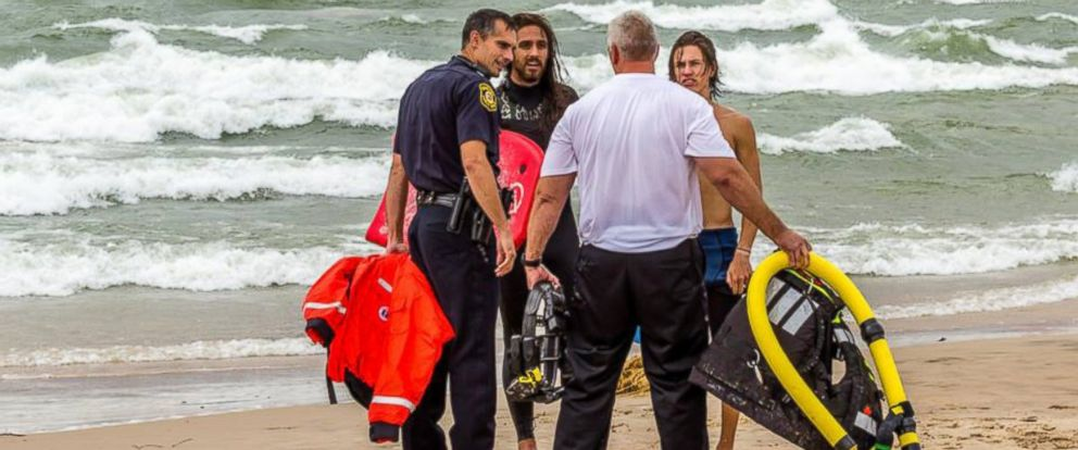 PHOTO: Two teens were rescued from a rough surf.