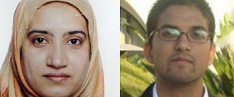 PHOTO: Tashfeen Malik, left, is seen in a photo obtained by ABC News. | Syed Rizwan Farook, is seen here in an online dating profile photo.