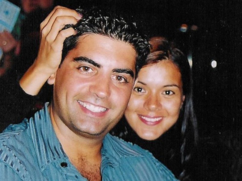 Tanya Villanueva Tepper photographed with her fiance, Sergio Villanueva, in late August 2001. Sergio was a firefighter for Ladder #132 in Brooklyn. It is believed Sergio was last seen in the Marriott Hotel when the towers collapsed on Sept. 11, 2001.