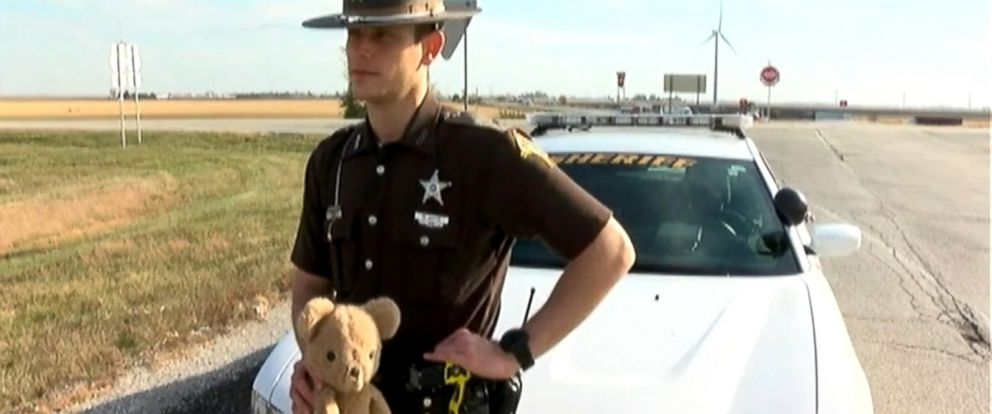 PHOTO: Deputy Matthew White recovered the bear on the side of I-65.