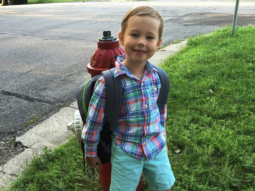 PHOTO: Freddy Trepp, 5, lost his teddy bear at the side of the road when his family made a quick pit stop in Indiana.