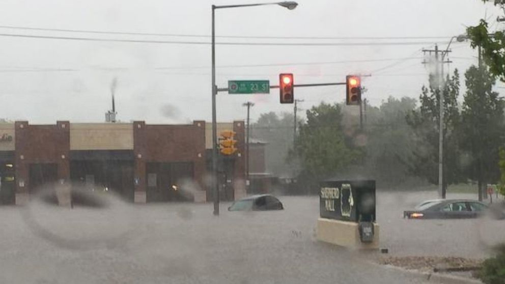 "Nathanael Callon posted this photo on Twitter, May 23, 2015, with the caption, ""Flooding on 23rd in OKC."""