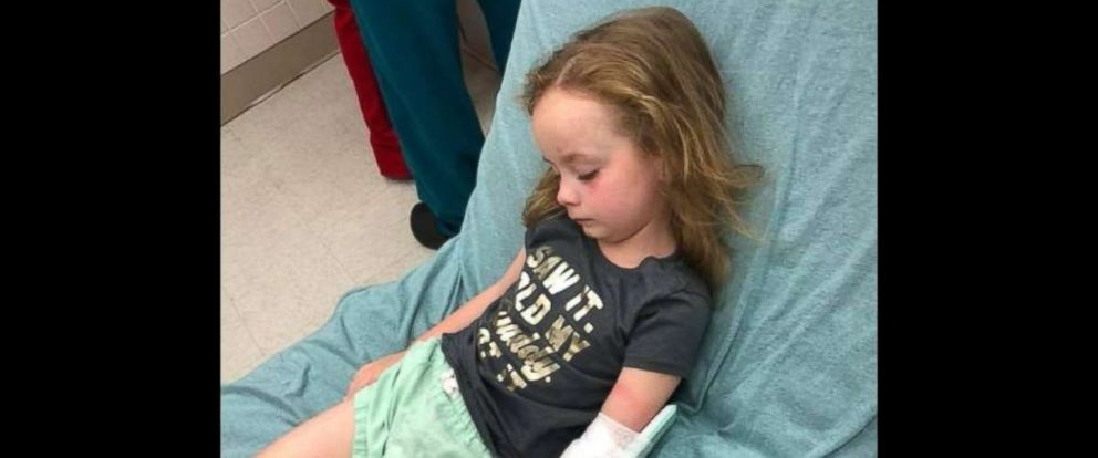 PHOTO: Five-year-old Kailyn Kirk, who suddenly lost the ability to walk and talk last week.