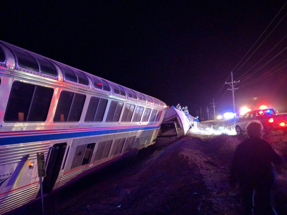 PHOTO: An Amtrak train traveling from L.A. to Chicago derailed approximately 20 miles west of Dodge City, Kansas in this March 14, 2016 file photo.