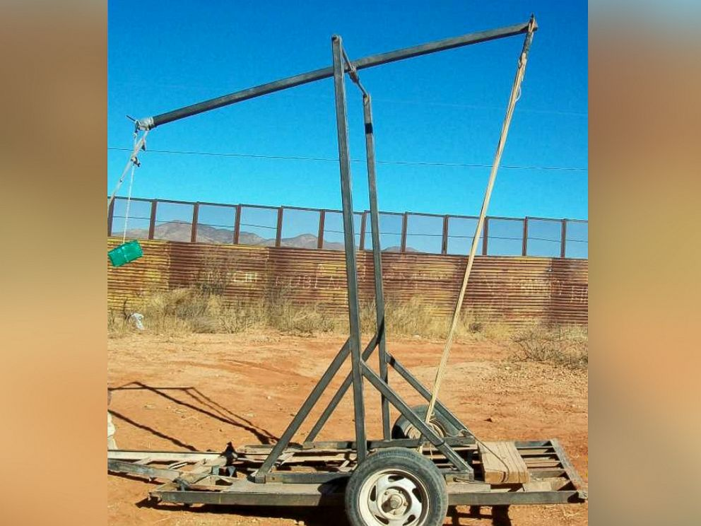 PHOTO: This trebuchet was seized in January, 2011 in Naco, Sonora, Mexico. Mexican authorities were testing the capability of the equipment to lob packages when the photo was taken.