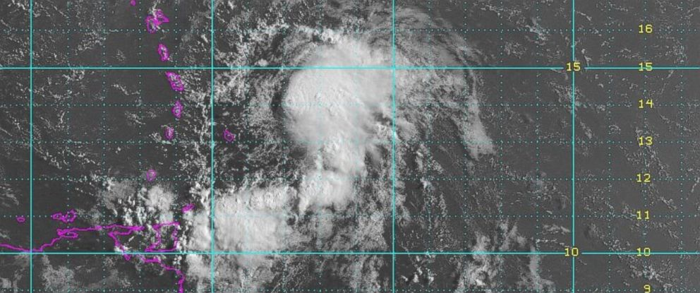PHOTO: A satellite image shows Tropical Storm Bertha as it moves towards Puerto Rico
