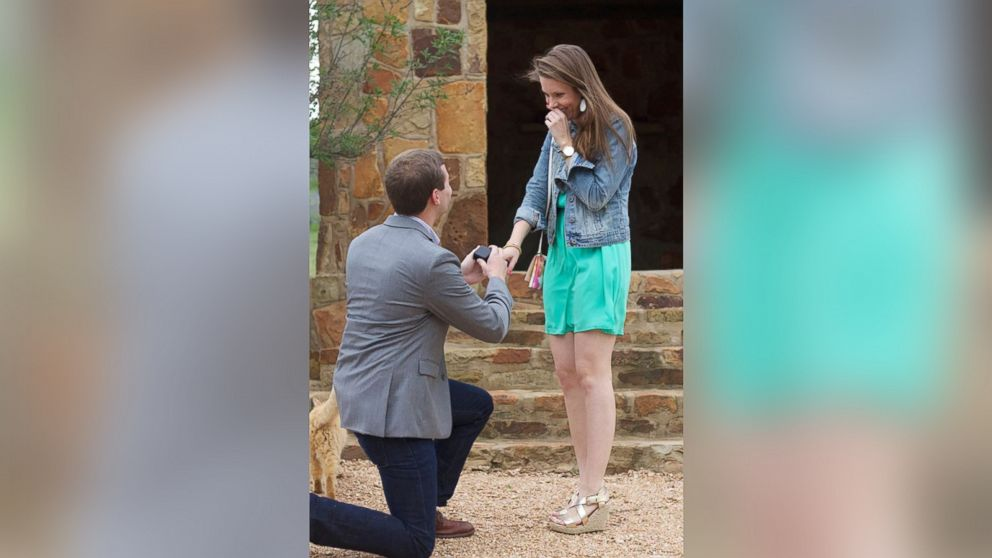 Hudson Hoyle proposes to college girlfriend Katelyn Kainer.