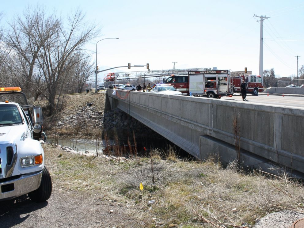 PHOTO: A baby is in critical condition and her mother is dead after their car crashed into the Spanish Fork River in Utah, Saturday, March 7, 2015. It is believed the car was in the water for 13 hours.