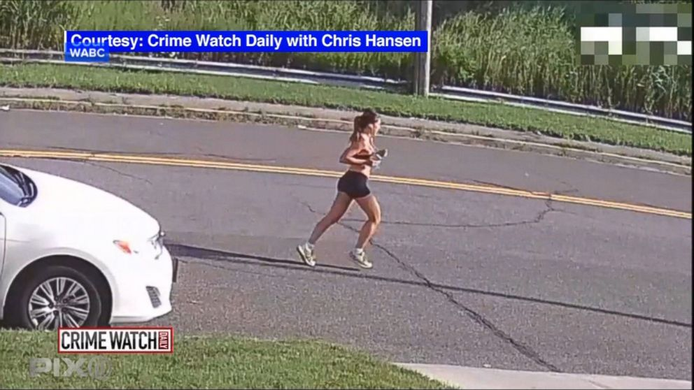 An image made from video of 30-year-old Karina Vetrano hours before she was killed while jogging in Queens, New York.