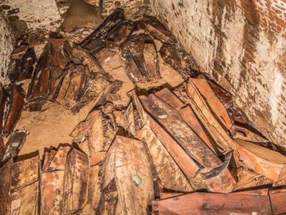 PHOTO:The second burial vault is located south of the first burial vault with wooden coffins likely dated to the 19th century.