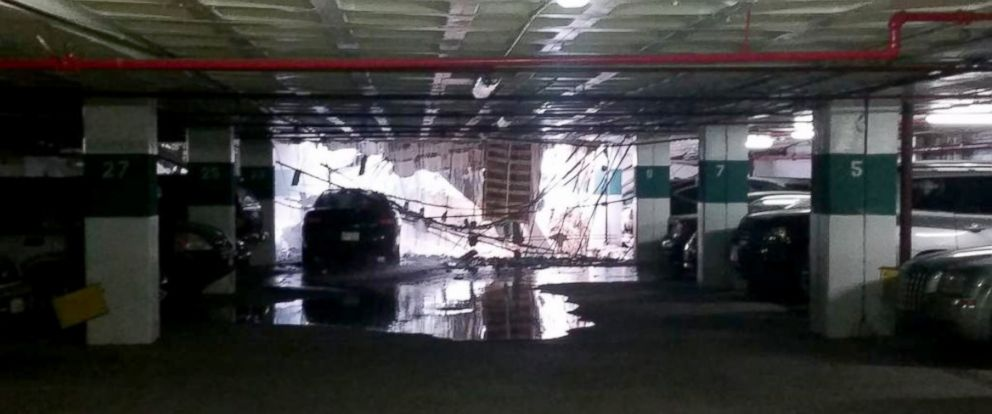 PHOTO: A parking garage collapse at the Watergate office building, April 30, 2015.