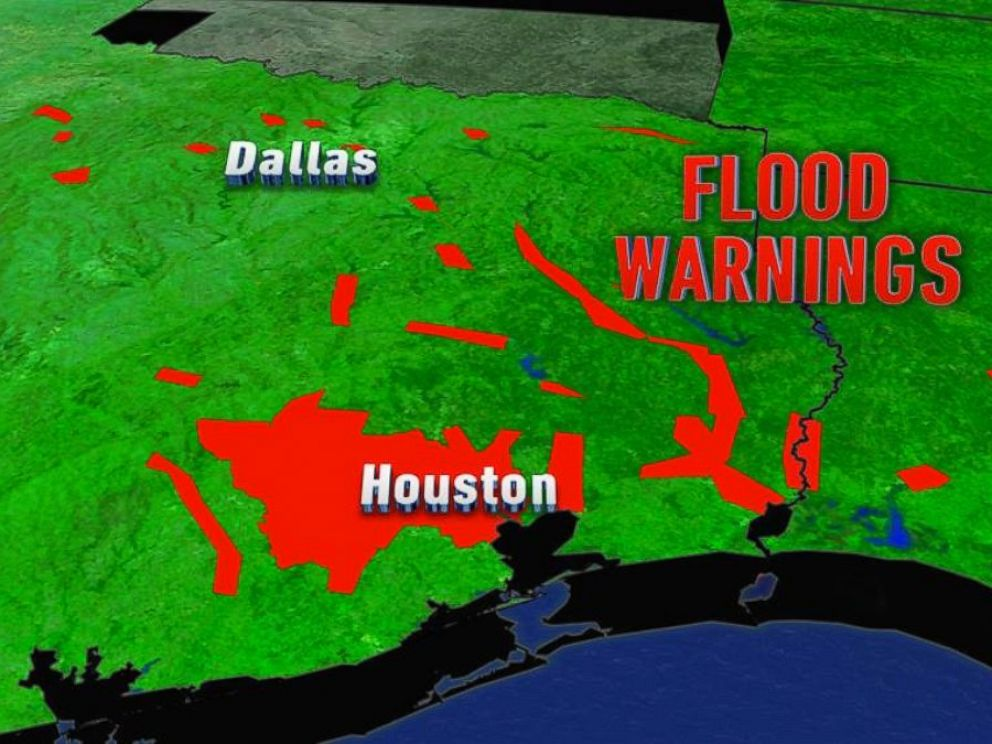 PHOTO:Flood warnings were issued Tuesday for several parts of eastern Texas.