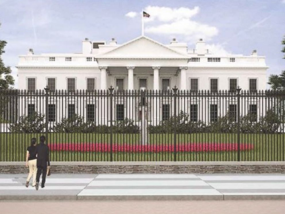 PHOTO: Rendering of proposed White House fence from Lafayette Park.