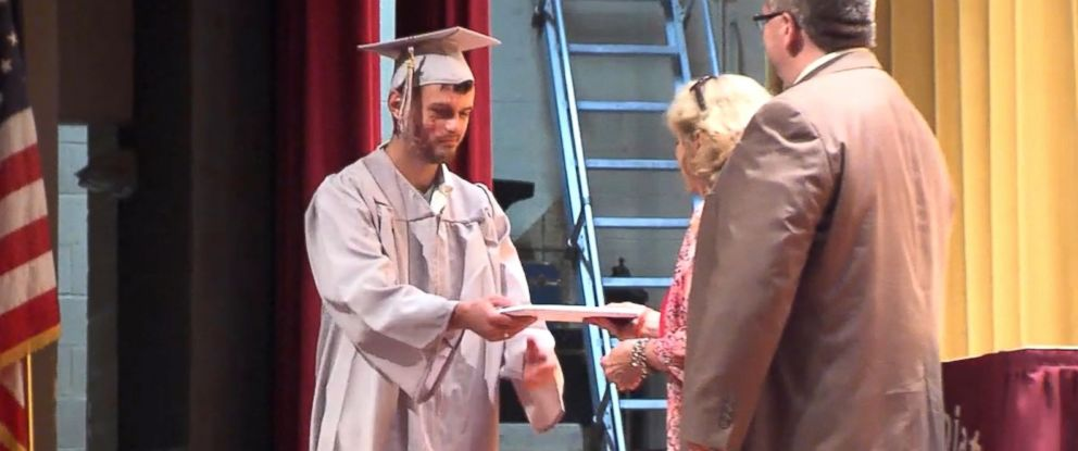 PHOTO: Part of the class of 2016 from East Juniata High School in central Pennsylvania went back on June 15, 2016, to recreate graduation for their classmate Scott Dunn, who recently awoke from a coma.