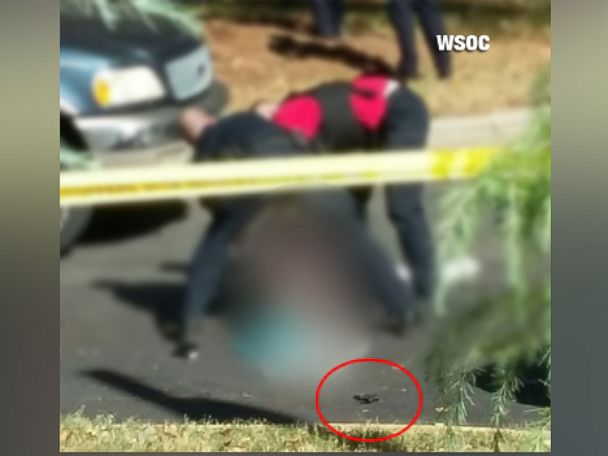PHOTO: This photo, obtained by ABC affiliate WSOC, appears to show the gun that police recovered from the scene of the officer-involved shooting of Keith Lamont Scott in Charlotte, North Carolina.