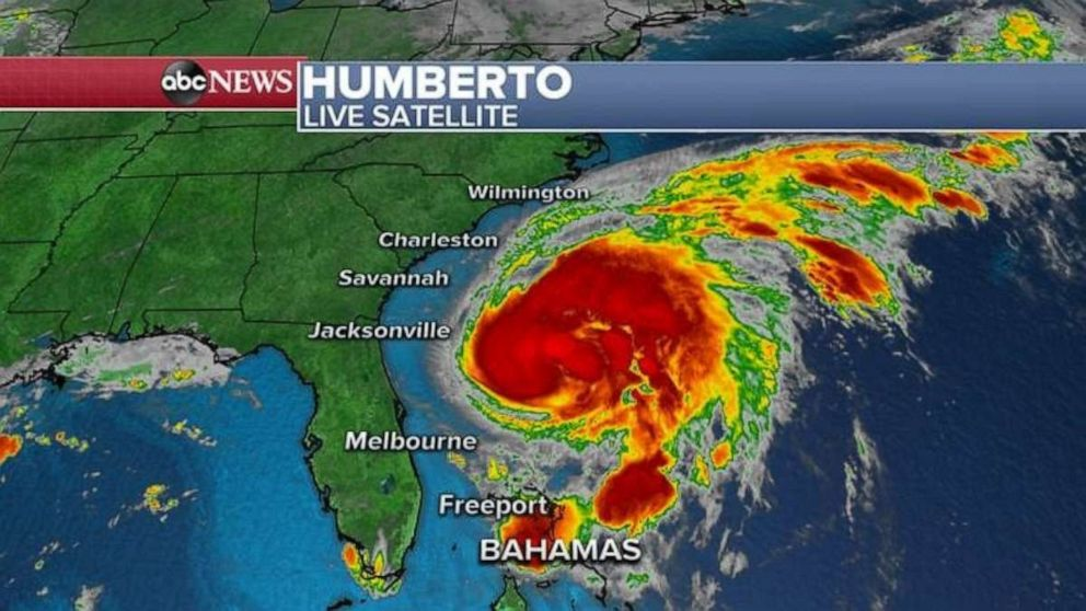PHOTO: Hurricane Humberto is heading toward Bermuda but is not expected to make a direct hit.