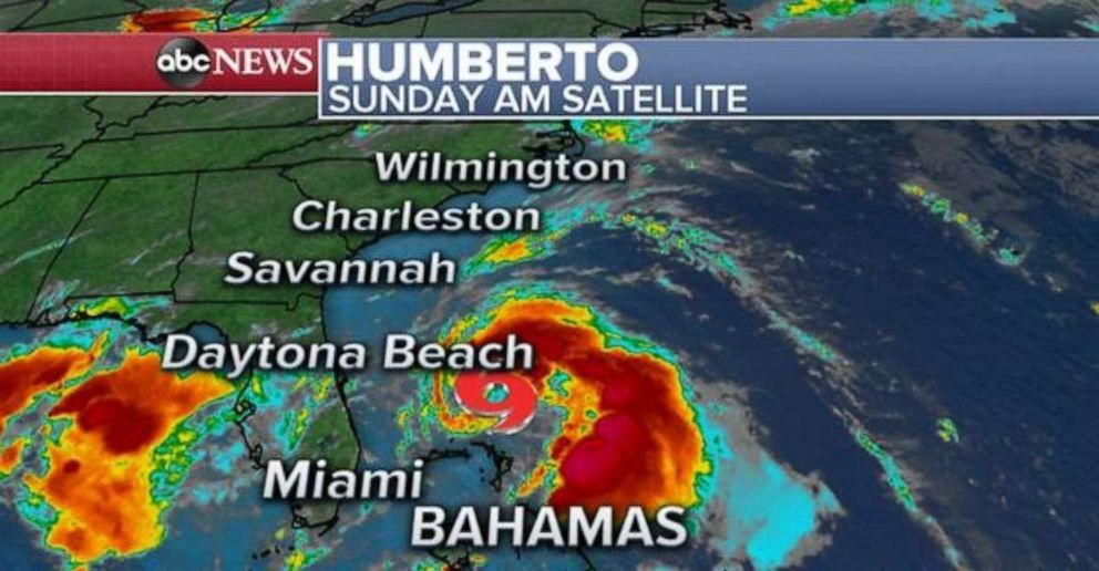 PHOTO: Tropical Storm Humberto is moving slowly at 7 mph off the coast of Florida.