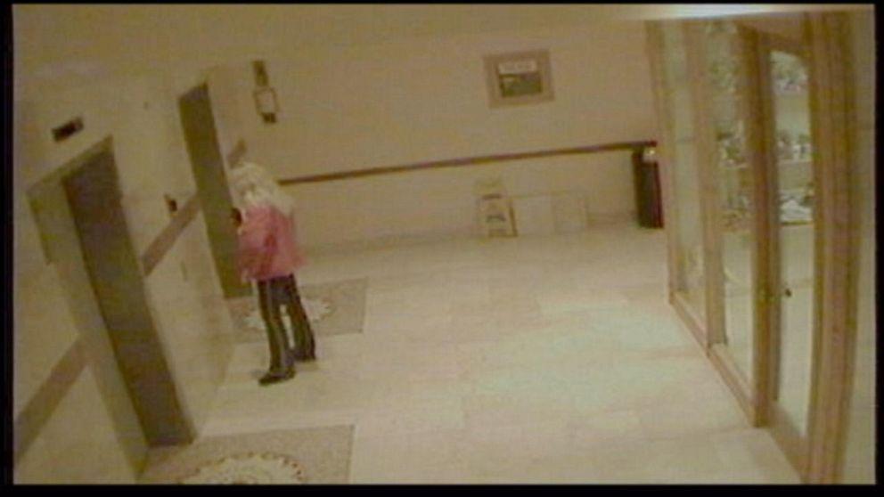 Budnytska was seen on hotel surveillance getting on an elevator.