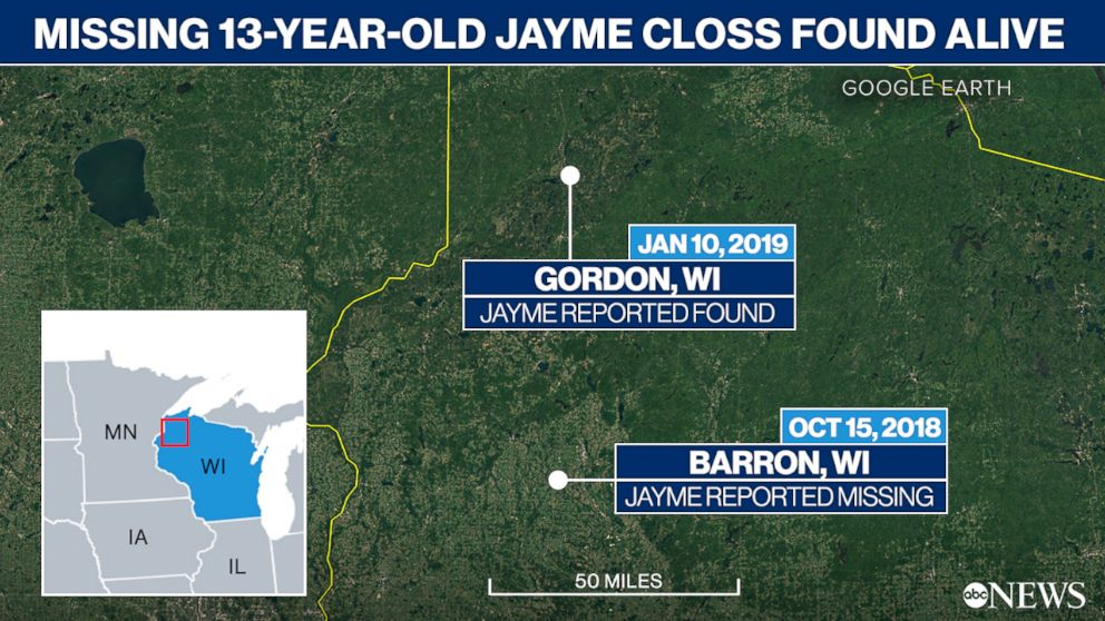 PHOTO: Missing 13 Year Old Jayme Closs Found Alive