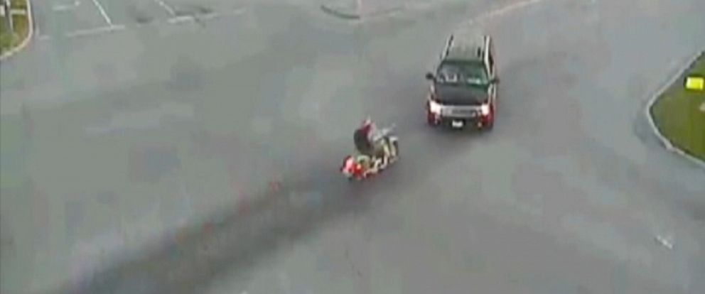 PHOTO: A traffic camera captured a motorcycle accident in Excelsior Springs, Missouri.