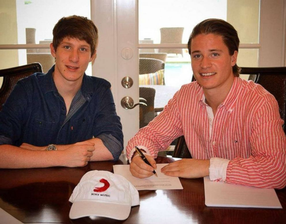 PHOTO: Kygo (right) signed on to Sony Music in 2014. Here he is with his manager, Myles Shear.