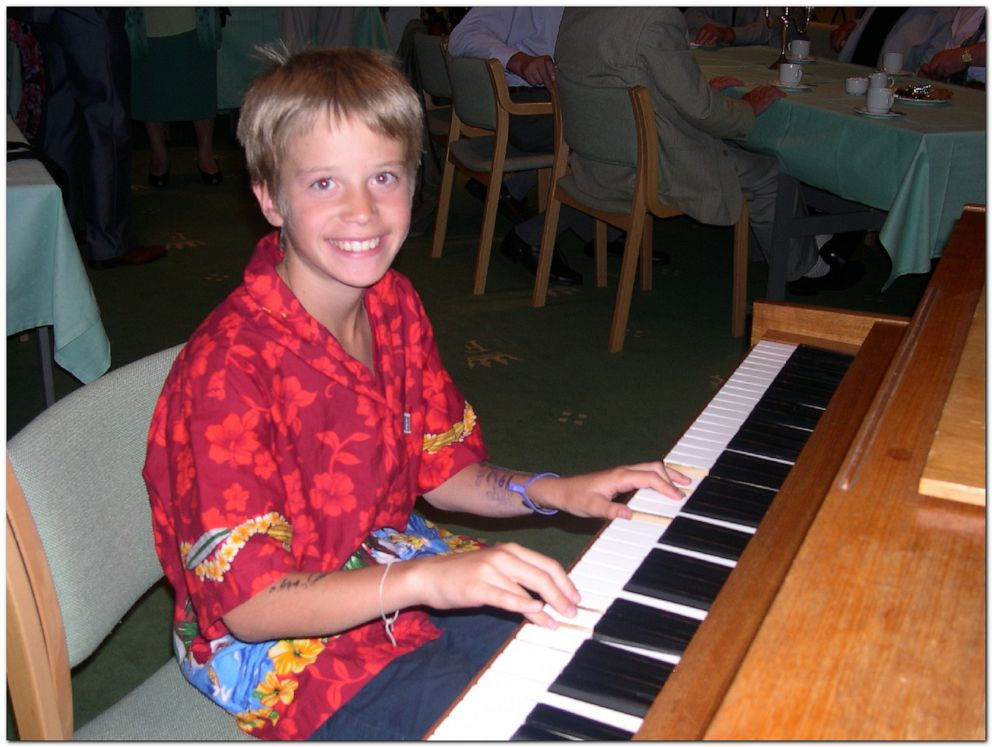 PHOTO: Kygo began learning to play the piano at 6 years old. Here he is in 2003.