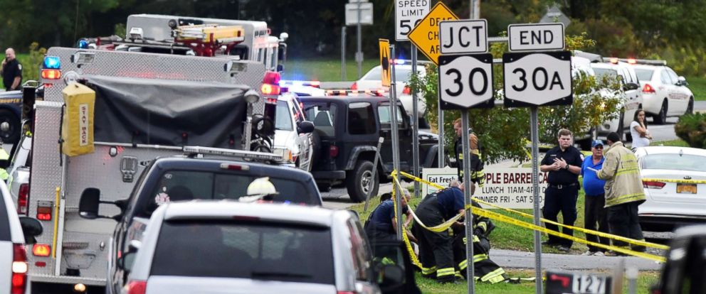 PHOTO: The scene of a deadly limousine crash in Schoharie, N.Y., Oct. 6, 20