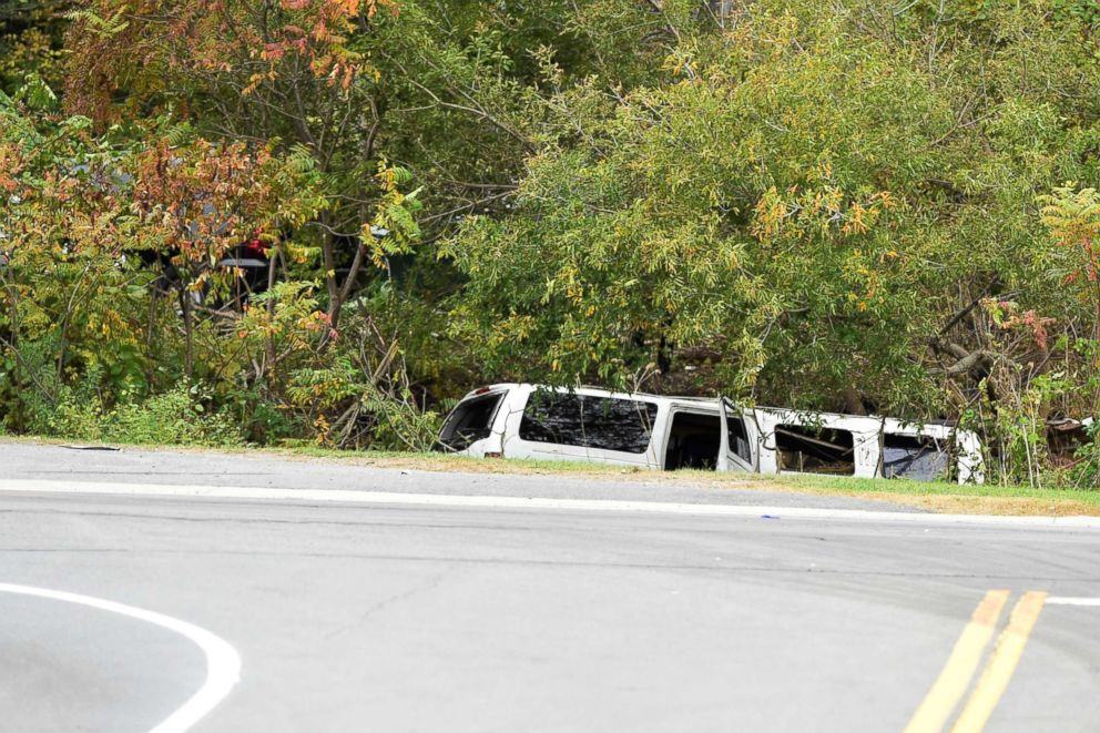 PHOTO: The scene of a deadly limousine crash in Schoharie, N.Y., Oct. 6, 2018.