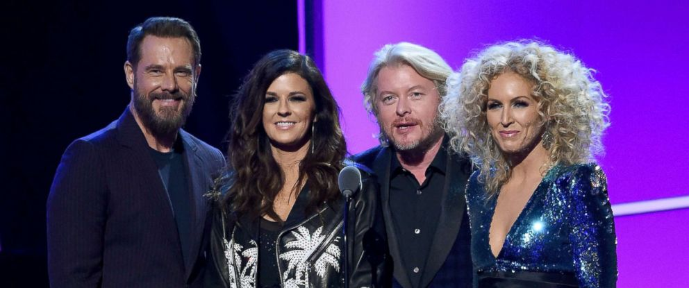 PHOTO: From left, Jimi Westbrook, Karen Fairchild, Phillip Sweet, and Kimberly Schlapman of Little Big Town onstage during 60th Annual GRAMMY Awards at Madison Square Garden on Jan. 29, 2018 in New York City.