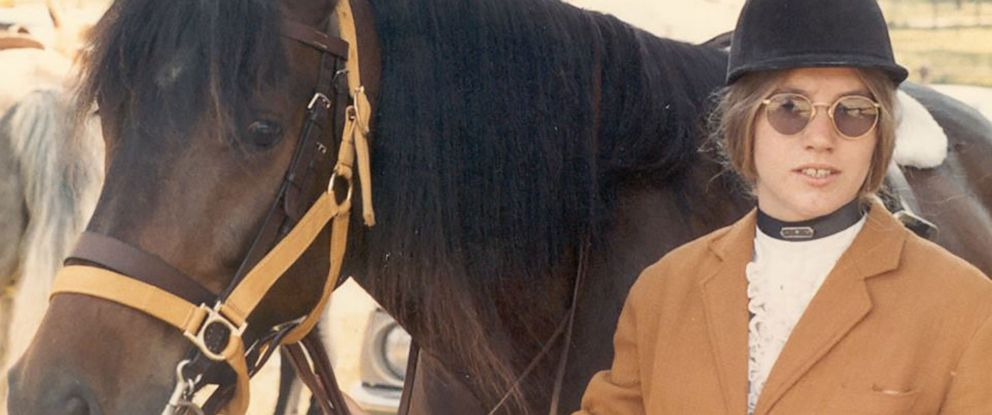 Jody Loomis and her horse in 1972