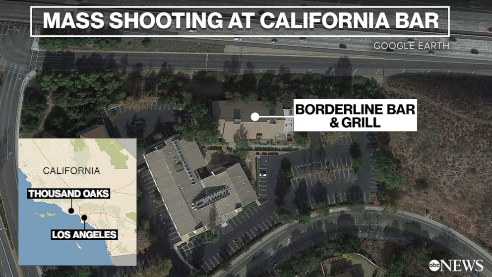 A mass shooting unfolded at the Borderline Bar and Grill in Thousand Oaks, Calif., Nov. 7, 2018.