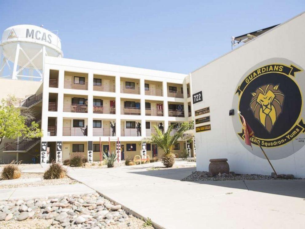 PHOTO: The Marine Corps Air Station (MCAS) Yuma barracks, March 28, 2019, in Yuma, Ariz.